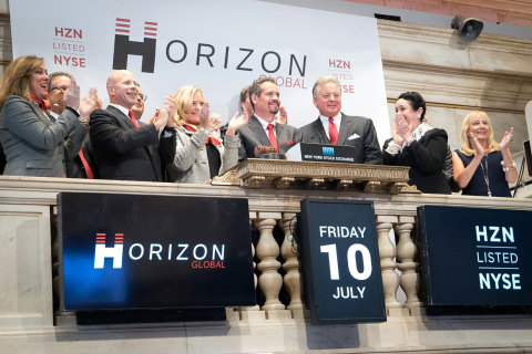 Horizon Global ringing the opening bell on the NYSE on July 10, 2015. (Photo: Business Wire)