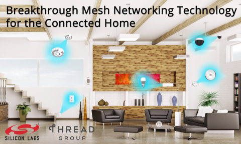 Silicon Labs Thread Solution: Breakthrough Mesh Networking Technology for the Connected Home (Graphic: Business Wire)