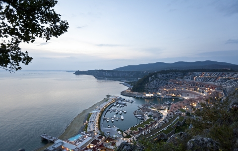 Starwood Hotels & Resorts - Falisia, a Luxury Collection Resort & Spa, Portopiccolo - Rendering Aerial View of Portopiccolo Development (Photo: Business Wire)