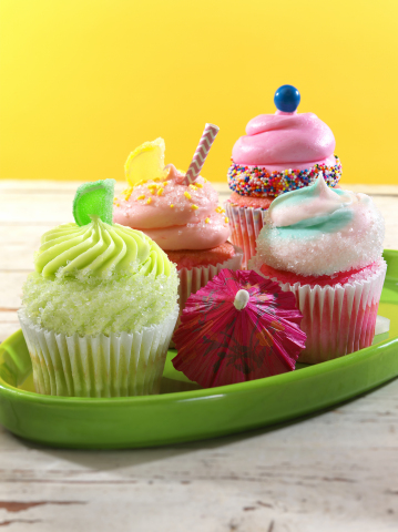 Gigi's Cupcakes has launched a new summer line, including Bubble Gum, Cotton Candy, Pink Lemonade and Merry Margarita Cupcakes. (Photo: Business Wire)