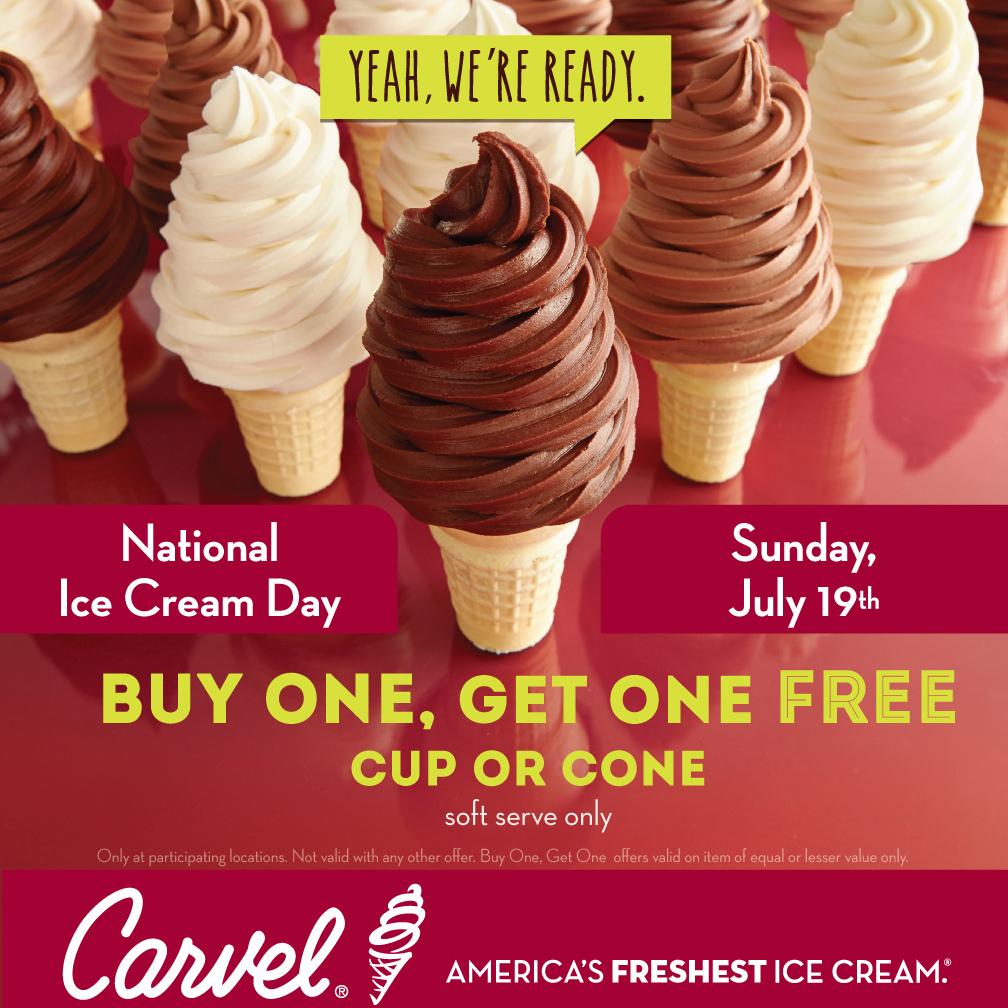 Carvel Free Cone Day  Long Island