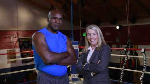 "Evander Holyfield says Kathy McArthur is ""The Real Deal"". (Photo: Business Wire)"