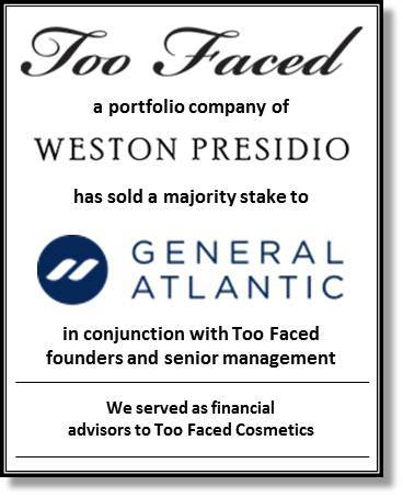 Intrepid served as financial advisor to Too Faced Cosmetics (Graphic: Business Wire)