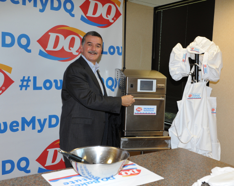 Today, Dairy Queen CEO John Gainor helped launch the DQ Bakes! Institute at their headquarters in Minneapolis with the unveiling of the ceremonial oven. The Institute was established to inspire, develop and enhance future innovation coming from the DQ oven — ultimately, creating new and unique taste experiences DQ fans can't get anywhere else. (Photo: Business Wire)