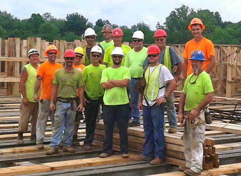 """Charles """"Chuck"""" Miles and his crew of whiskey warehouse carpenters from Kentucky are winners of the 2015 Cintas & Carhartt Tough Crew Contest. (Photo: Business Wire)"""
