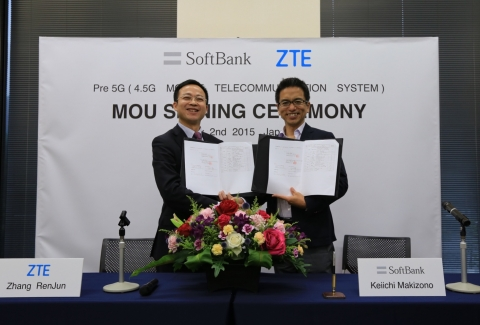 ZTE Signs Joint Pre5G R&D MOU with SoftBank (Photo: Business Wire)