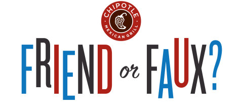 "Chipotle's ""Friend of Faux"" contrasts the simplicity of the company's real, whole ingredients with the processed ingredients commonly used in traditional fast food. (Graphic: Business Wire)"