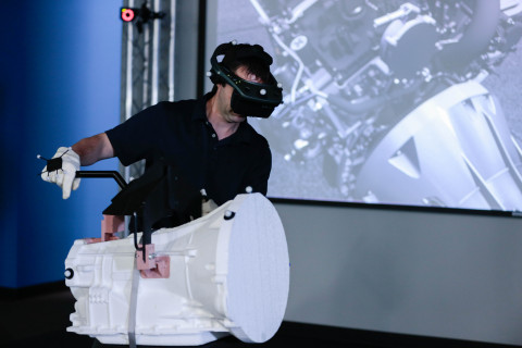 Ford Motor Company has reduced its production line injury rate by 70 percent since 2003 for its more than 50,000 ''industrial athletes'' by using virtual manufacturing and ergonomists. Immersive virtual reality uses a 23-camera motion-capture system and head-mounted display to virtually immerse an employee in a future workstation. Then, the employee's movements are evaluated to determine task feasibility and proficiency. (Photo: Business Wire)