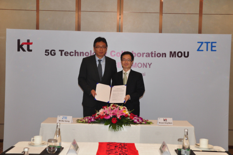 ZTE and KT Sign Strategic Partnership on 5G in Korea (Photo: Business Wire)