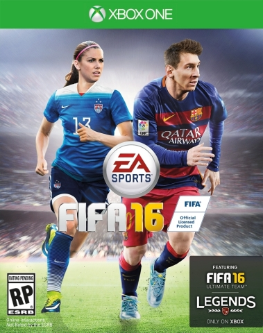 EA SPORTS ANNOUNCES ALEX MORGAN AND CHRISTINE SINCLAIR AS FIRST EVER FEMALE COVER ATHLETES FOR FIFA 16 IN NORTH AMERICA (Graphic: Business Wire)