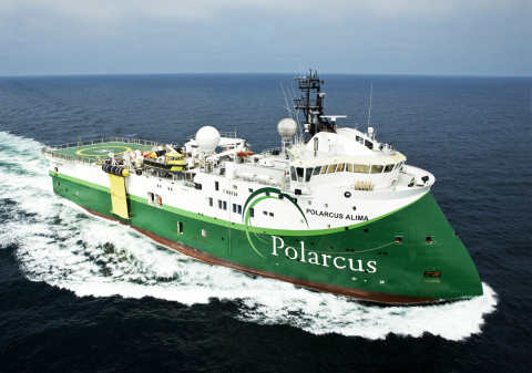 Polarcus Alima, an ultra-modern 12 streamer 3D/4D seismic vessel. (Photo: Business Wire)