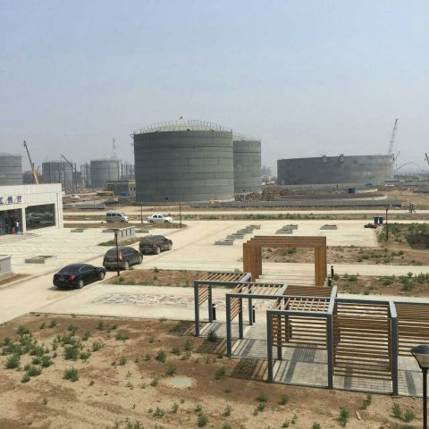 New petrochemical cluster under construction in Hunghua, China (Photo: Business Wire)
