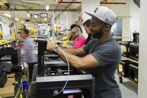 The new MakerBot factory is a state-of-the-art facility with a focus on lean manufacturing and effic ...