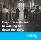 Here in time for the moments that matter #Wedding #FatherOfTheBride #ThereToHere (Graphic: Business Wire)