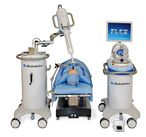 The Medrobotics Flex® Robotic System has received FDA clearance. Initial indications are for transoral procedures in the mouth and throat. (Photo: Business Wire)