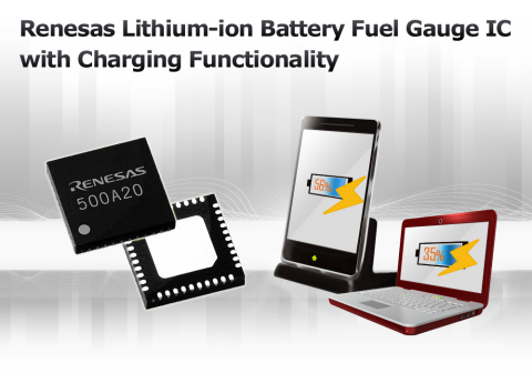 Renesas Lithium-Ion Battery Fuel Gauge IC (Graphic: Business Wire)