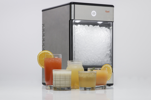 Available to purchase starting July 28 through Indiegogo (www.nuggetice.com), Opal is a countertop nugget ice maker designed by the FirstBuild community. (Photo: GE)