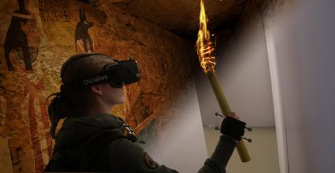 Real Virtuality: Immersive Explorers (C) 2015 Artanim Foundation, Kenzan Technologies (Photo: Busine ...
