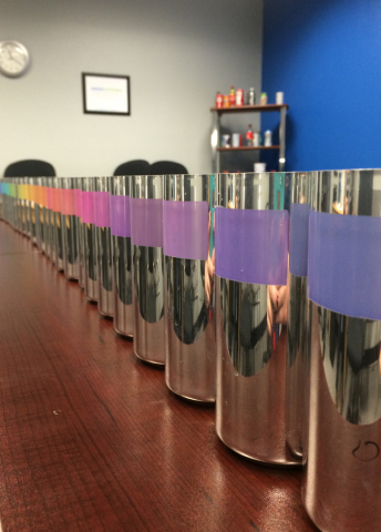 "In 2015, CTI announced an expansion to its thermochromic ('temperature-sensitive') inks. As a result, CTI's proprietary technology of High Velocity Inks now offers hundreds of new colors for decorating metal cans, a process referred to in the industry as ""metal deco."" (Photo: Business Wire)"