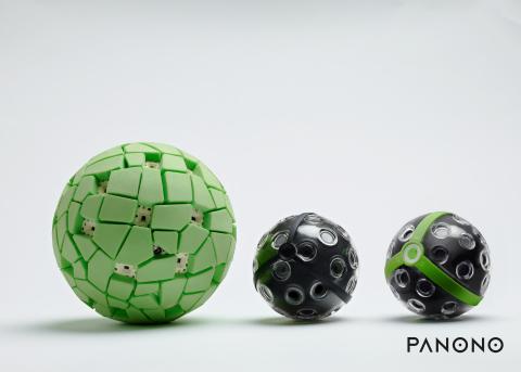 The evolution of the Panono camera. (Photo: Business Wire)