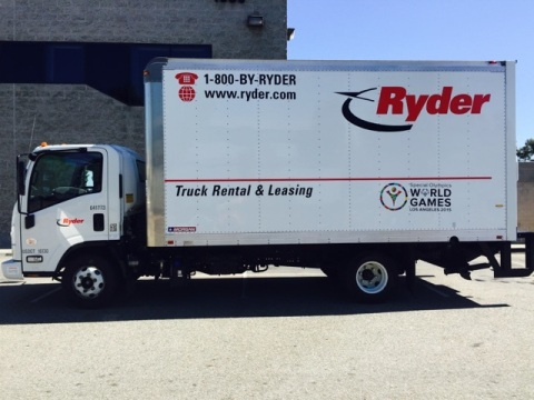 Ryder's rental city van truck to be used by the Special Olympics World Games to safely transport eve ...
