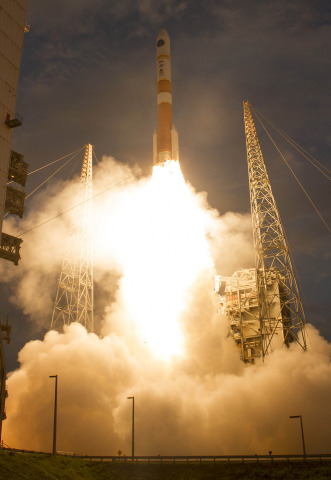 Orbital ATK provided propulsion, composite and spacecraft technologies to enable the successful launch of both the United Launch Alliance Delta IV vehicle and the seventh Wideband Global SATCOM (WGS-7) satellite that launched July 23. Photo courtesy ULA