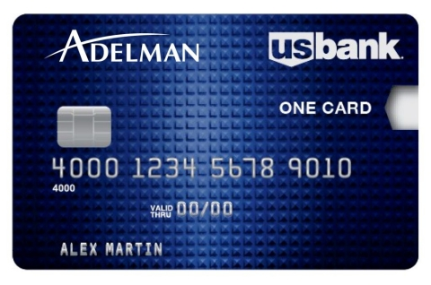 Example of U.S. Bank-Adelman Travel co-branded card product (Photo: Business Wire)