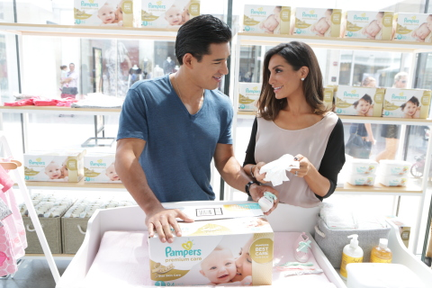 On Saturday July 25, the Piper & Paxton Baby Boutique, a stylishly designed pop-up was installed in the Chicago area. The boutique, which is open for just three days, featuresan array of top baby brands and demonstrated to customers that you don't have to shop at a high-end baby boutique to find great baby products. Mario and Courtney Lopez hosted the opening party and revealed to guests that all the products found in the boutique are available at Walmart, including new Pampers Premium Care diapers. (Photo: Business Wire)