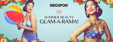 Groupon's Beauty Week -- Cool Down with Hot Looks (Graphic: Business Wire)