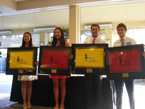 Pictured from left to right, Michelle Xie, Lauren Kim, Jonathan Garrick, and Patrick Grimes. (Photo: Business Wire)