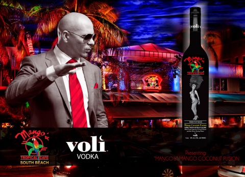 Pitbull, Voli Vodka and Mango's Tropical Café Announce a New Voli Vodka Private Label. (Photo: Business Wire)