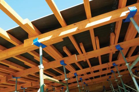LP SolidStart LVL concrete form beams (Photo: Business Wire)