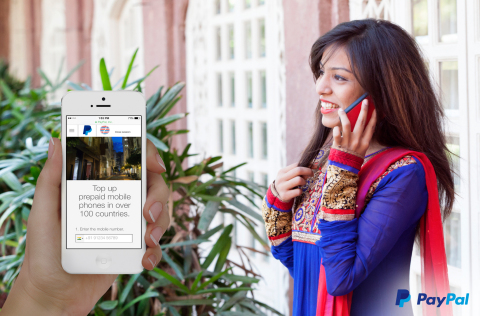 Canadians can now top up prepaid mobile phones of family in India with PayPal (Photo: Business Wire)