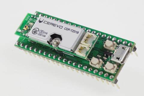 東芝製アプリケーションプロセッサTZ1000シリーズが搭載されたCerevo製IoT開発キット(写真:ビジネスワイヤ)