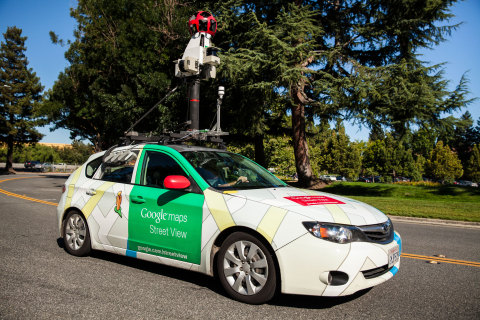 Google Street View cars equipped with Aclima's mobile sensing platform map a range of pollutants which can affect human health or climate change. (Photo: Business Wire)