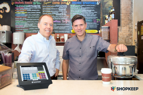 Norm Merritt, President and CEO of ShopKeep, and Jason Richelson, ShopKeep founder & CSO (Photo: Business Wire)