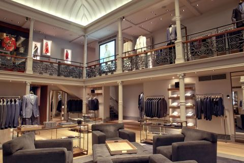 Soraa lamps illuminate the beautiful interior of the Gieves & Hawkes flagship store in London. (Photo: Business Wire)