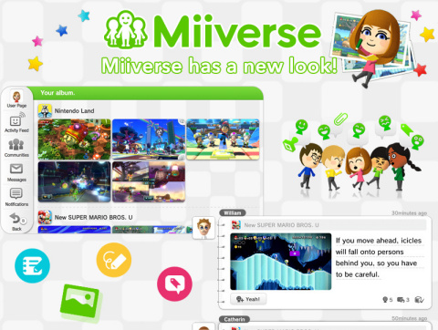 Miiverse gets a major update that makes discussing games easier than ever. (Photo: Business Wire)