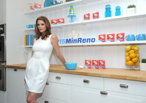Actress Ashley Greene joins Mr. Clean to demonstrate #15MinReno tips and tricks with the Magic Eraser and Concentrated Multi-Surface Cleaner, Tuesday, July 28, 2015 in New York. (Photo by Diane Bondareff/Invision for Mr. Clean/AP Images)