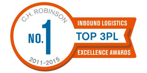 C.H. Robinson连续第五年被《Inbound Logistics》杂志的读者评选为第三方物流排行榜第一位。(图示:美国商业资讯)