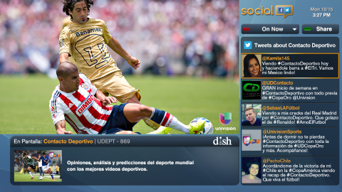 With ZONA FÚTBOL, fans can follow social media while watching their favorite team (Photo: Business Wire)