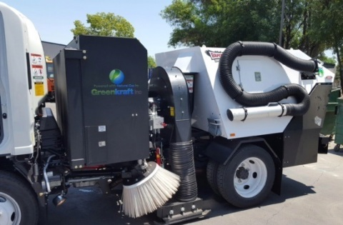 Greenkraft Modifies a Heavy Duty Sweeper Truck to Run on American Natural Gas to Be Used in a City in California (Photo: Business Wire)