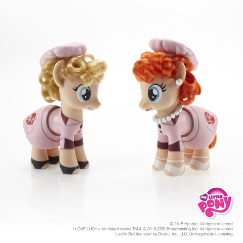 Friendship sure is sweet! Inspired by the classic chocolate factory scene in I Love Lucy, the MY LITTLE PONY brand has created one-of-a-kind pony versions of famed '50s friends Lucy and Ethel in celebration of the International Day of Friendship on July 30, 2015. Follow #MLPFriendshipDay and visit the MY LITTLE PONY Facebook page to check out more of pop culture's beloved best friends as pony figures! http://facebook.com/mylittlepony. I LOVE LUCY and related marks TM & © 2015 CBS Broadcasting Inc. All rights reserved. Lucille Ball licensed by Desilu, too, LLC, Unforgettable Licensing. (Photo: Business Wire)