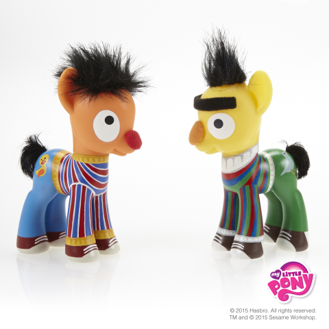 Brought to you by the letters B.F.F., Sesame Street buddies Bert & Ernie have joined the MY LITTLE PONY brand to celebrate the International Day of Friendship! The MY LITTLE PONY brand from Hasbro, Inc. has created ponyriffic versions of two of Sesame Street's most iconic best friends in recognition of the International Day of Friendship on July 30, 2015. Follow #MLPFriendshipDay and stop by the MY LITTLE PONY Facebook page to see other famous pairs as ponies: https://www.facebook.com/mylittlepony (Photo: Business Wire)