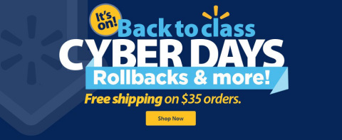 Back to Class Cyber Days at Walmart.com (Graphic: Business Wire)