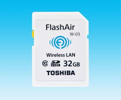 東芝:無線LAN搭載 SDHCメモリカード「FlashAir(TM) W-03」(SD-WEシリーズ)(写真:ビジネスワイヤ)