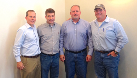 From left to right: Q2 Holdings, Inc. President and CEO Matt Flake; Centrix Solutions, Inc. Vice Pre ...