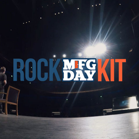 CNC Software Inc., developers of Mastercam CAD/CAM software, has partnered with Edge Factor to produce a professional, time-saving, turnkey package of exciting media and interactive resources, called #RockMFGDay. (Photo: Business Wire)
