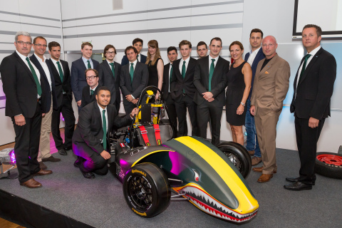 Staff from Axalta in Austria and engineering students from the University of Applied Sciences in Vie ...