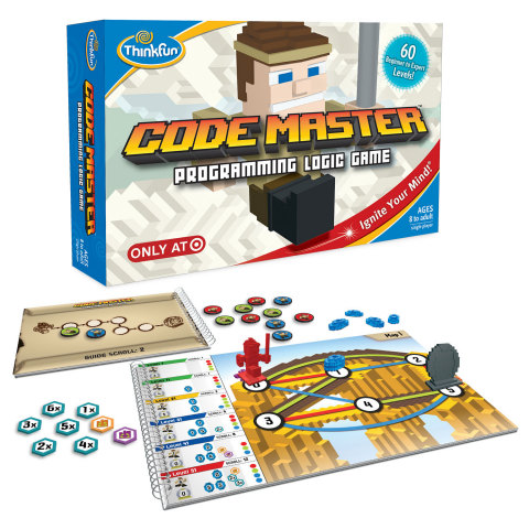 Code Master by ThinkFun is a puzzle board game that takes kids on the ultimate coding adventure, solving 60 fun puzzles while learning coding logic - no computer required. (Photo: Business Wire)